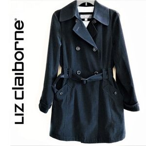 Liz Claiborn Double Breasted Classic Trench Coat
